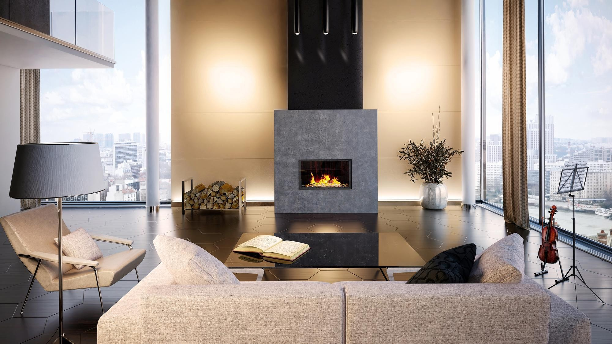 fireplaces chemin e kamin ofen. Black Bedroom Furniture Sets. Home Design Ideas